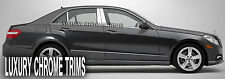 Mercedes E Class W212 Stainless Chrome Pillar Posts by Luxury Trims 2010-2013 6p
