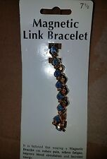 Blue Hearts [7 1/2] New Small Link Magnetic Bracelet Light