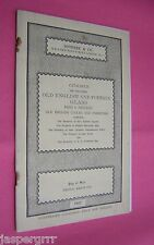1937 SOTHEBY AUCTION CATALOGUE OLD ENGLISH & FOREIGN GLASS, RUGS TEXTILES CLOCKS