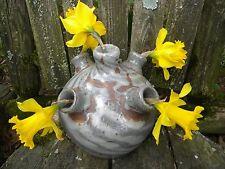 VINTAGE BURLON CRAIG SWIRL 5 HOLE FLOWER JAR, VALE NORTH CAROLINA, RARE!