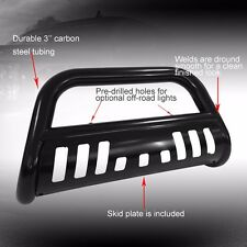 BLACK BULL BAR FOR 07-10 GMC SIERRA SKID PLATE  2500HD 3500HD BRUSH PUSH GUARD