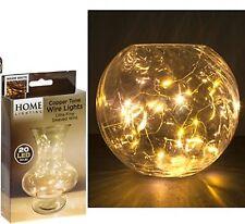 20 MINI LAMPADINE LED BIANCO CALDO SU CAVI IN RAME-Home/Decorazione Di Natale - 926011