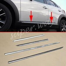 Door Body Strip For Mazda CX3 2016 2017 Chrome Molding Cover Accessories