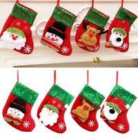 1 X Weihnachten Santa Socken Ornamente Festival Party Xmas Tree Hanging Dec X4S0