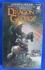 1976 THE DRAGON AND THE GEORGE by Gordon R. Dickson 1st Ballantin Paperback FN-