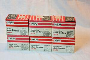 6 BOXES GEPE DOUBLE GLASS SLIDE BINDERS FOR SLIDE FILM 224 BINDERS