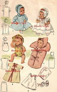 """Doll Clothing Pattern 2537 for 11"""" Betsy Wetsy Tiny Tears Ginny Baby Sweetie Pie"""