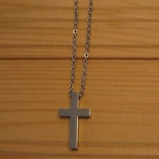 Cross Christ biker stainless steel pendant & necklace