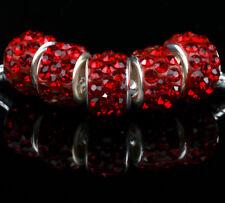 5PCS Wholesale Dark red Charms Beads Necklace European charm Bracelet #T723
