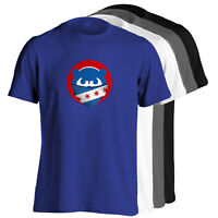 Chicago Cubs T-Shirt - Mad Cubbie Bear Bandana Shirt in choice of 4 colors - S-5