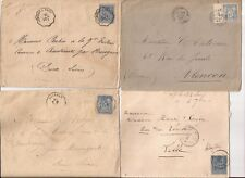 FRANCE- 1890s- 7 covers-all w/ Ceres Type II (15c value) Shades ??
