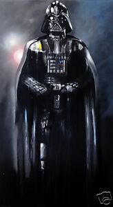 canvas poster Darth Vader  painting star wars  art print abstract COA Australia