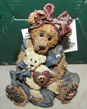 Boyds Bears Bearstone Mamma McBear & Caledonia Quiet Time Mib 1998