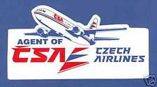 CSA Czech Airlines Advertising LOGO Label Sticker
