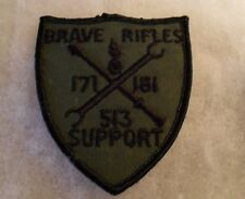 "1970'S 3RD ACR POCKET PATCH FOR 513TH SUPPORT BN ""BRAVE RIFLES"" 171/181 EMB"