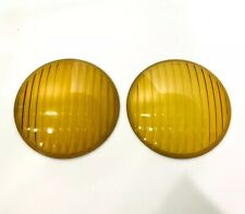 Pair (2) Amber Fog Light Glass Lenses for 1936-38 Chevy