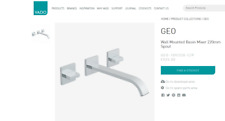 Vado Geo 3 Hole Basin Mixer With 220Mm Spout Wall Mounted - Geo-109/220-C/P
