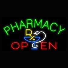 "New Pharmacy Open Medical Store Beer Bar Neon Light Sign 24""x20"""