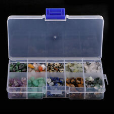 1 Box Natural Stone Beads with 1mm Hole Tumbled Stones for Necklace Bracelet