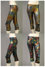 Sexy CAPRI LEGGINGS GoGo glanz Leggins Legings 60er 70er 80er Muster Retro DISCO