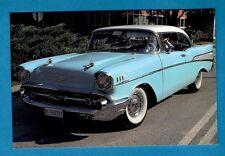 Car Postcard ~ 1957 Chevrolet Bel Air Hard-top: Milan 1990 - Niccolini of Italy