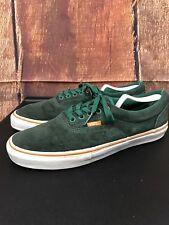 Men's VANS Classic Green Leather Duracap Shoes Size 9.5
