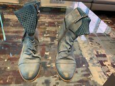 MJUS Women's Slate Blue Zip-Up Ankle Boots Size US: 9  EUR: 40