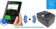 Mobiles Kassensystem für Gastronomie Bondrucker Touch Terminal Software / Kasse