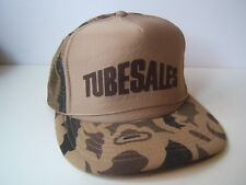 Vintage Camo Tubesales Hat Camouflage Snapback Trucker Cap