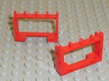 2 x LEGO Red Hinge Vehicle Roof Holder 4214 / set 6382 6366 6480 7838 6378 6654