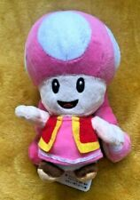 "Super Mario Plush Teddy - Toadette Soft Toy - Size 7"" / 17.5cm NEW & Tagged"