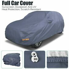 Waterproof Full Car Cover w/Lock Breathable Sun UV Rain Dust Resistant Blue