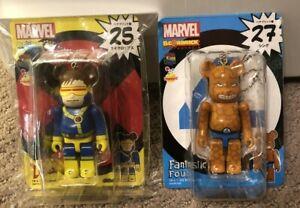 RARE Cylops Thing Marvel 100% Bearbrick 2 figure lot US Seller Fantastic Four