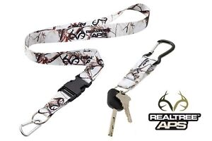 RealTree Snow Camo Neck Strap With Quick Release & Snow Camo Key-Ring