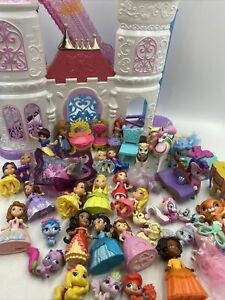 "Disney Princess Mini Toddler 3"" Doll Figures Lot Palace Pets Light up castle WOW"
