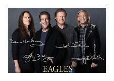 The Eagles A4 signed reproduction photograph picture poster. Choice of frame.