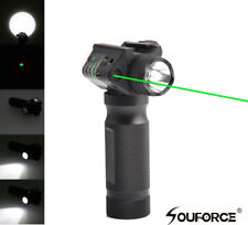 Us Combo Foregrip Cree Led Flashlight&Green Laser Sight 20mm for Rifle Gun
