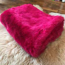 ZARA home baby blanket fur faux fur fluffy pink fuchia