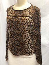 Doncaster- Leapord Print Silk Blouse- Sz 12