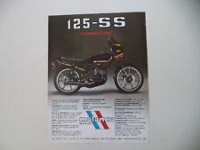 advertising Pubblicità 1983 MOTO MALANCA 125 SS