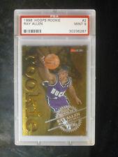 1996 Hoops Ray Allen Rookie #2 Milwaukee Bucks PSA 9 MINT 512
