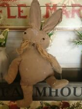 Primitive Rag Stuffed Bunny Rabbit Doll~Torn And Tattered~Decor