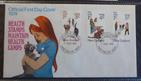1974 NEW ZEALAND HEALTH STAMPS SET OF 3 STAMPS FDC FIRST DAY COVER