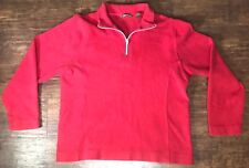 Tommy Bahama Men's Red Long Sleeve 1/4 Zip Sweatshirt Size Large