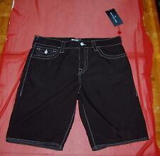 NWT TRUE RELIGION mens black  swimwear trunks board shorts size 34