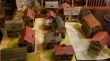 ANTIQUE MCLAUGHLIN 1897 CARDBOARD LITHOGRAPH PRETTY VILLAGE TOY TOWN 17 HOUSES &