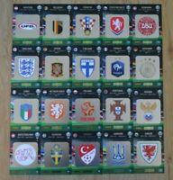 Panini Adrenalyn XL Uefa Euro EM 2020 alle 20 Team Logo Karten komplett Wappen