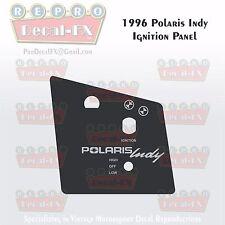 1996 Polaris Indy Ignition/Light Panel Decal Wedge Repro Vinyl 1 Piece Sticker