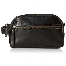 Timberland Men's Leather Travel Kit Toiletry Bag Dopp Kit Overnight Shave Kit