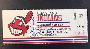 ⚾ 1983 Carl  Yastrzemski Full Ticket Signed COA Last HR #452 Life Boston Red Sox